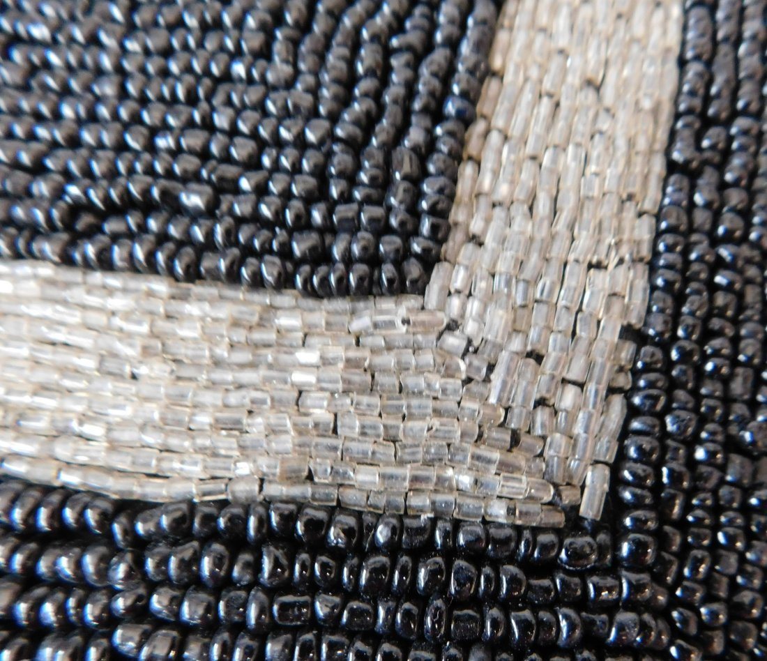 Beaded Leather Pillow - 4