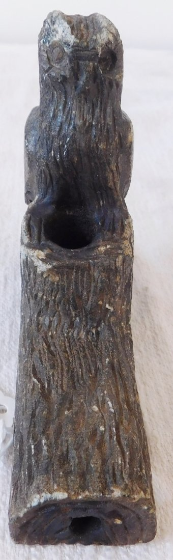 Stone Owl Effigy Pipe - 4
