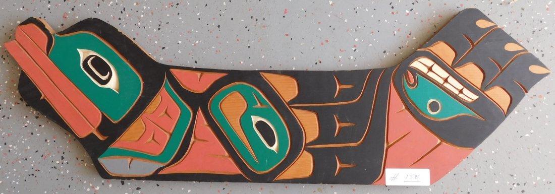 Northwest Coast Carved & Painted Plaque