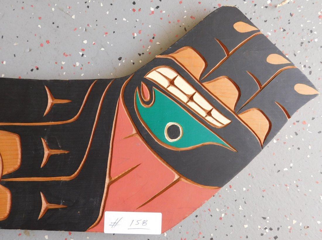Northwest Coast Carved & Painted Plaque - 2