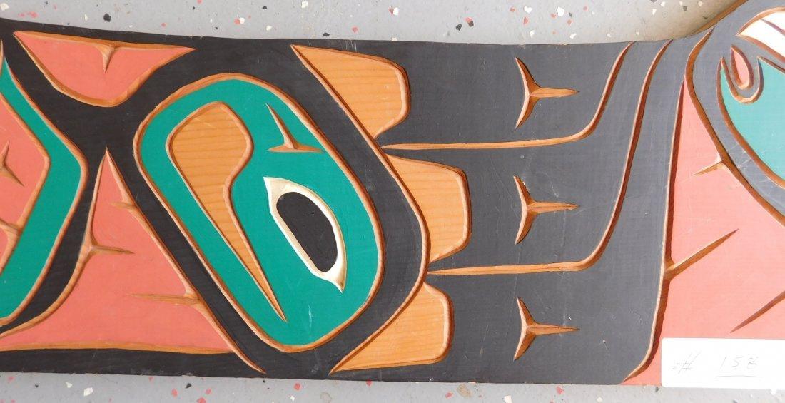 Northwest Coast Carved & Painted Plaque - 3