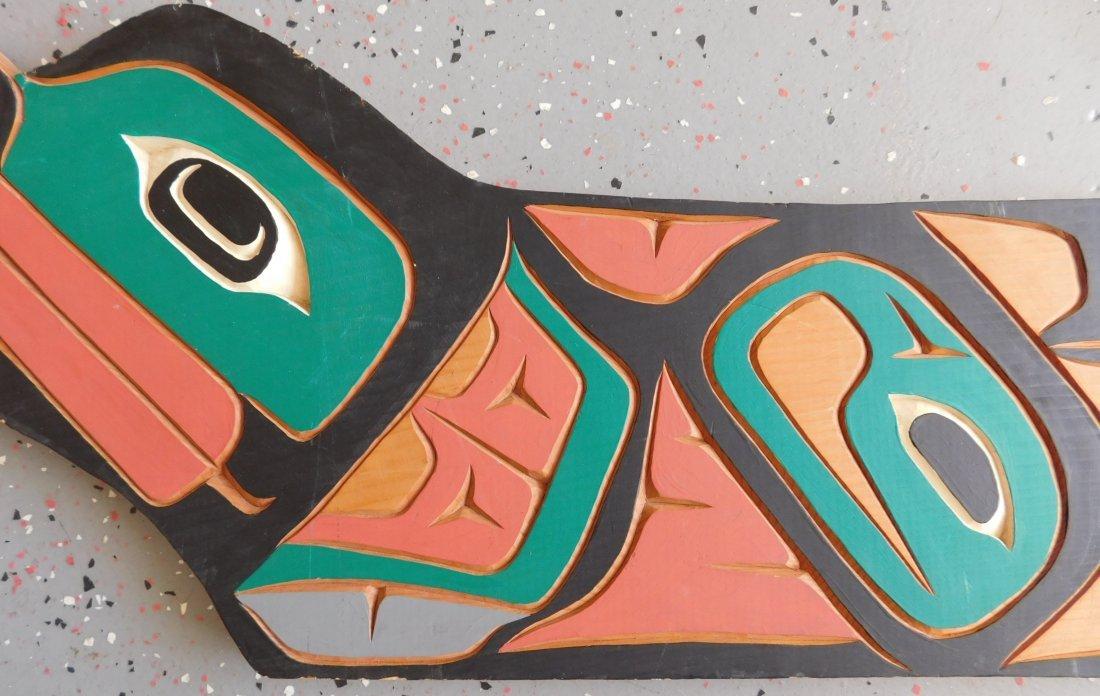 Northwest Coast Carved & Painted Plaque - 4