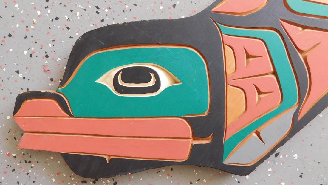 Northwest Coast Carved & Painted Plaque - 5