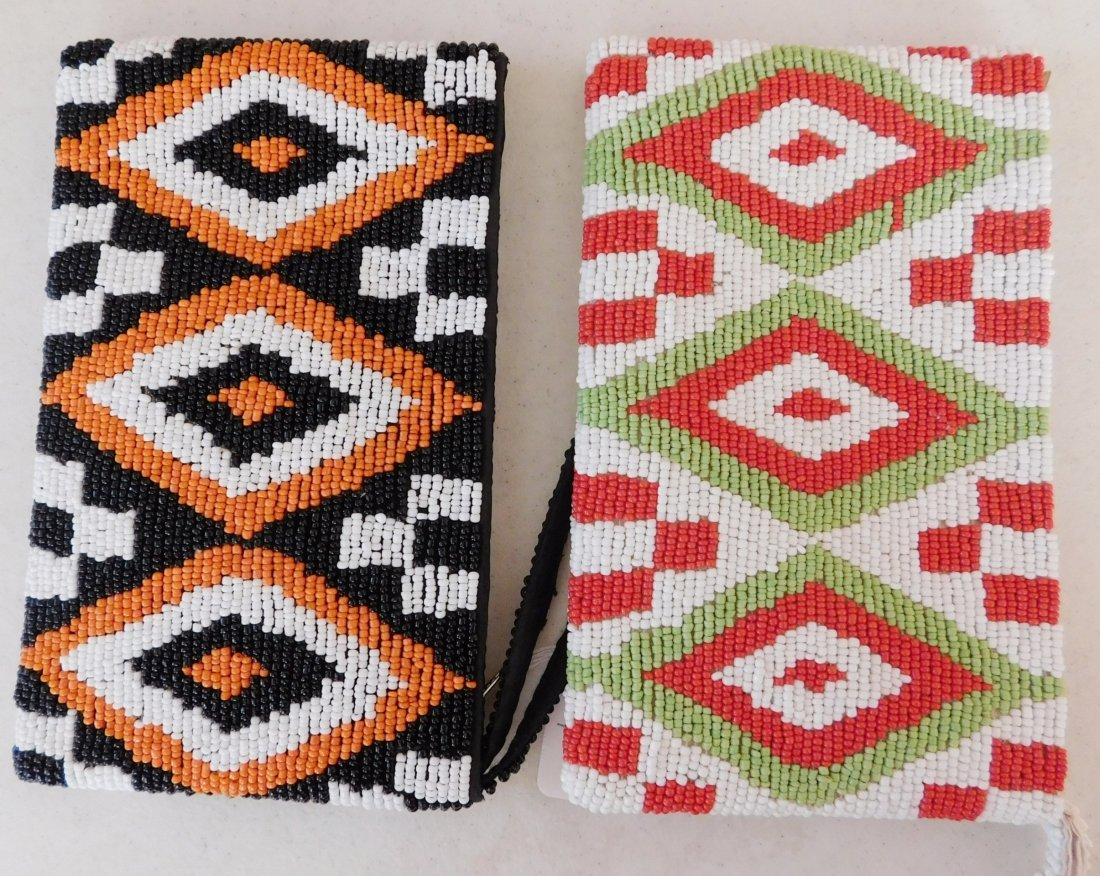 2 Native American-style Beaded Bags - 6
