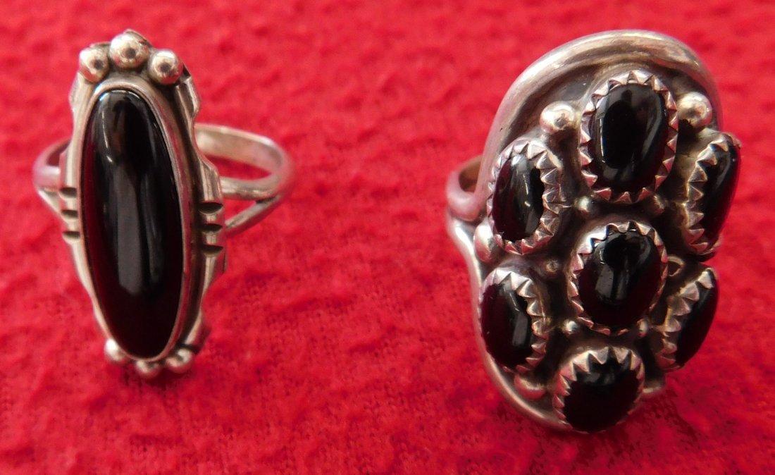 2 Navajo Rings & Dragonfly Pin - 2