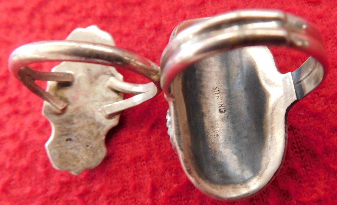 2 Navajo Rings & Dragonfly Pin - 3