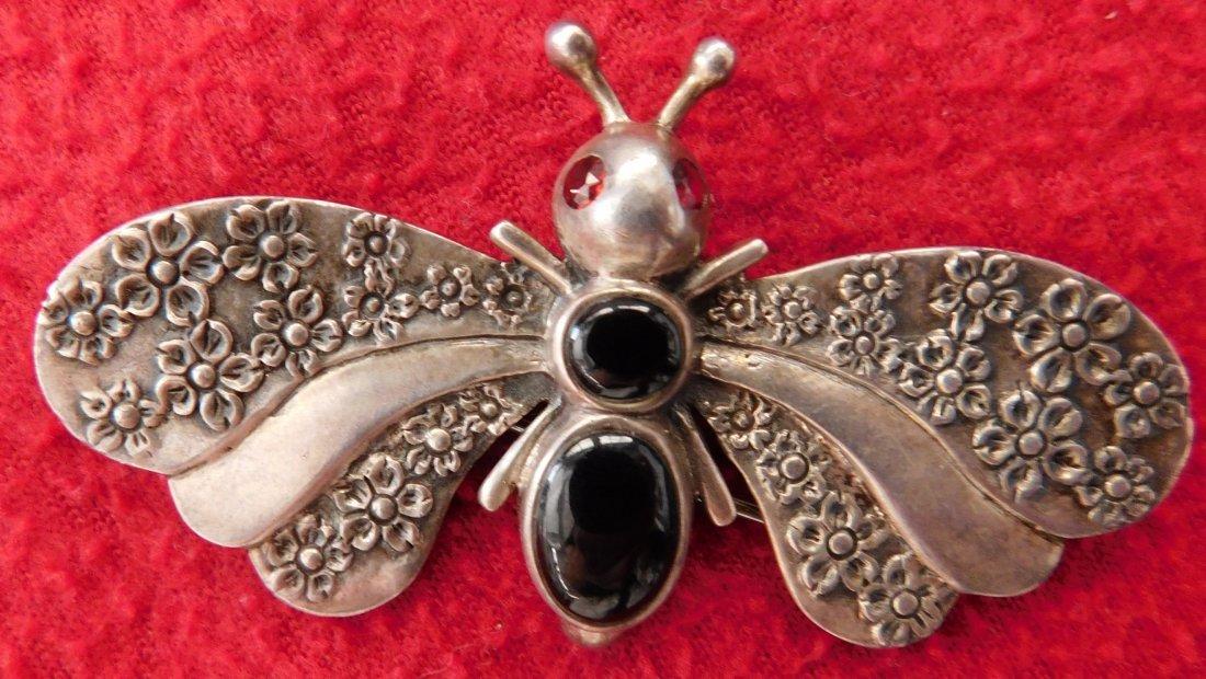 2 Navajo Rings & Dragonfly Pin - 4