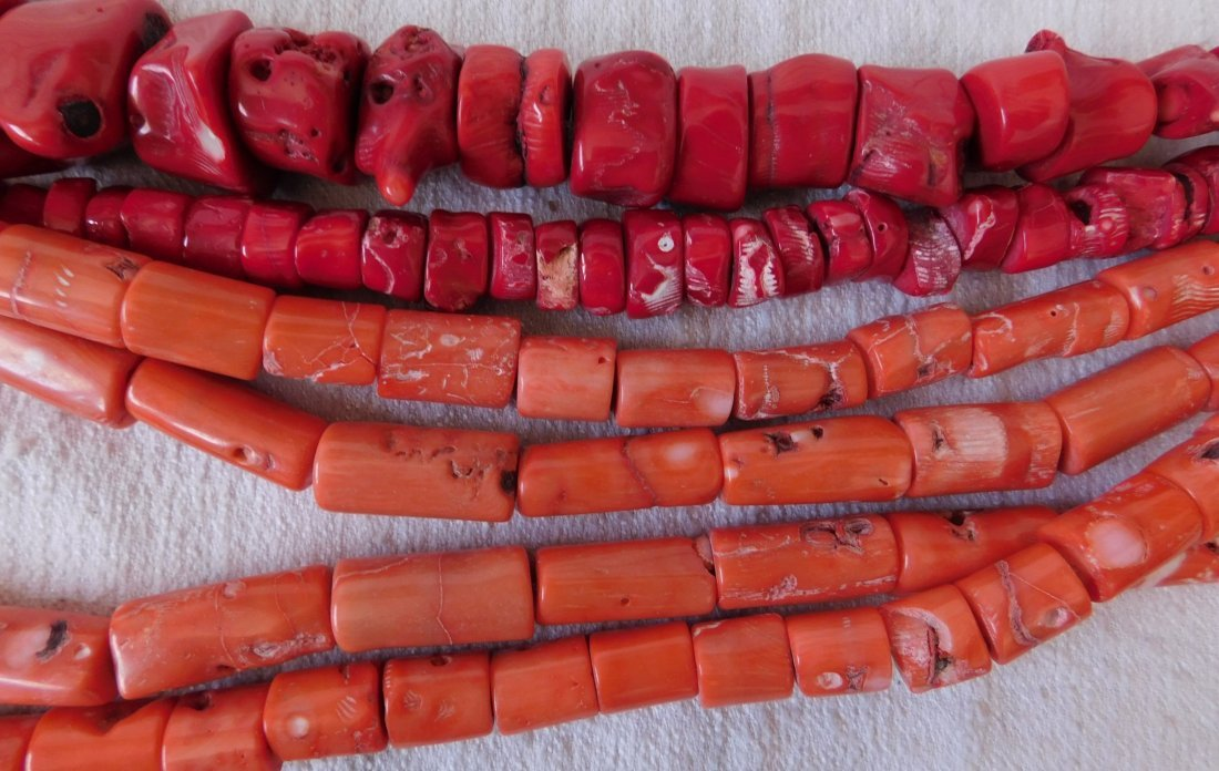 Collection of Coral Beads - 7
