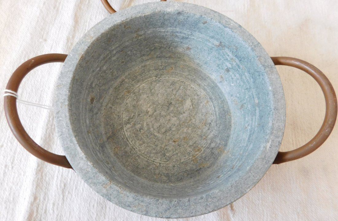 2 Steatite Cooking Bowls - 4