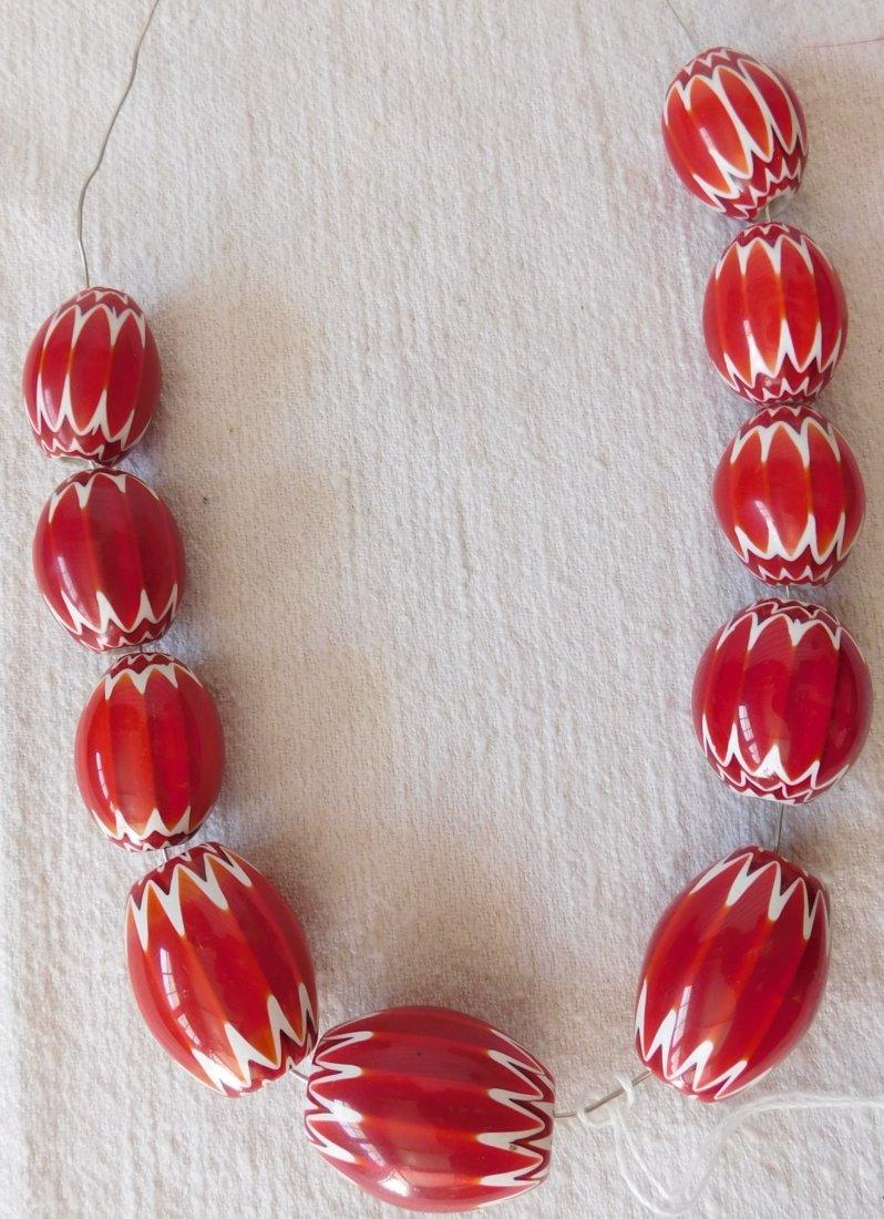 Rare Red Chevron Beads
