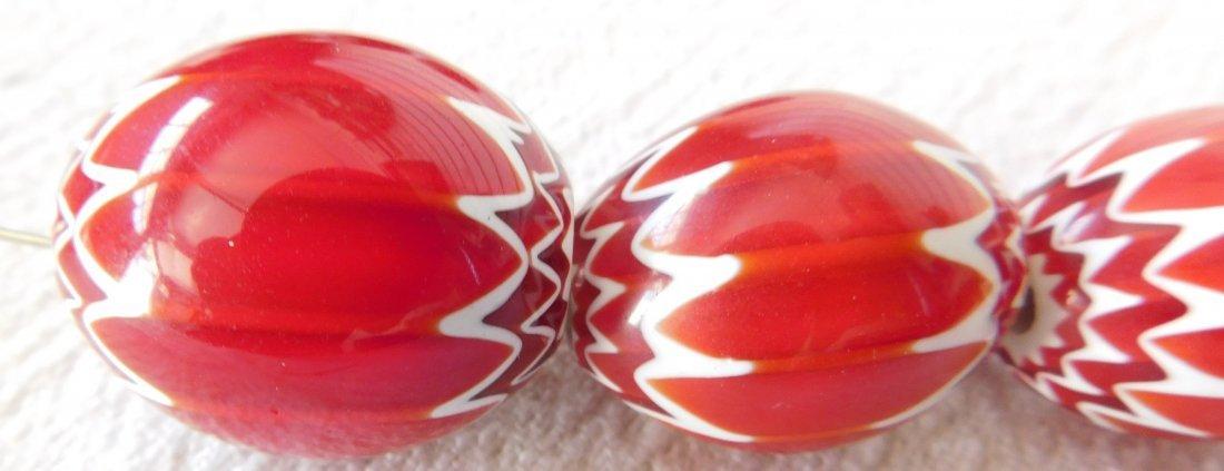 Rare Red Chevron Beads - 3