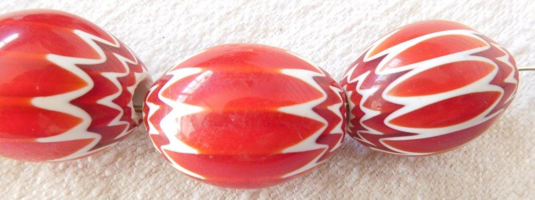 Rare Red Chevron Beads - 4