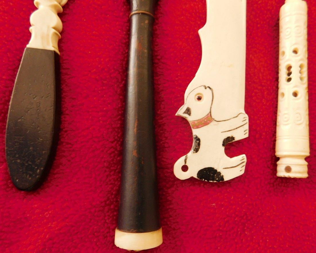 4 Eskimo Bone Letter Openers - 4
