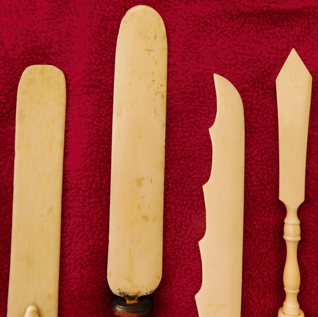 4 Eskimo Bone Letter Openers - 6