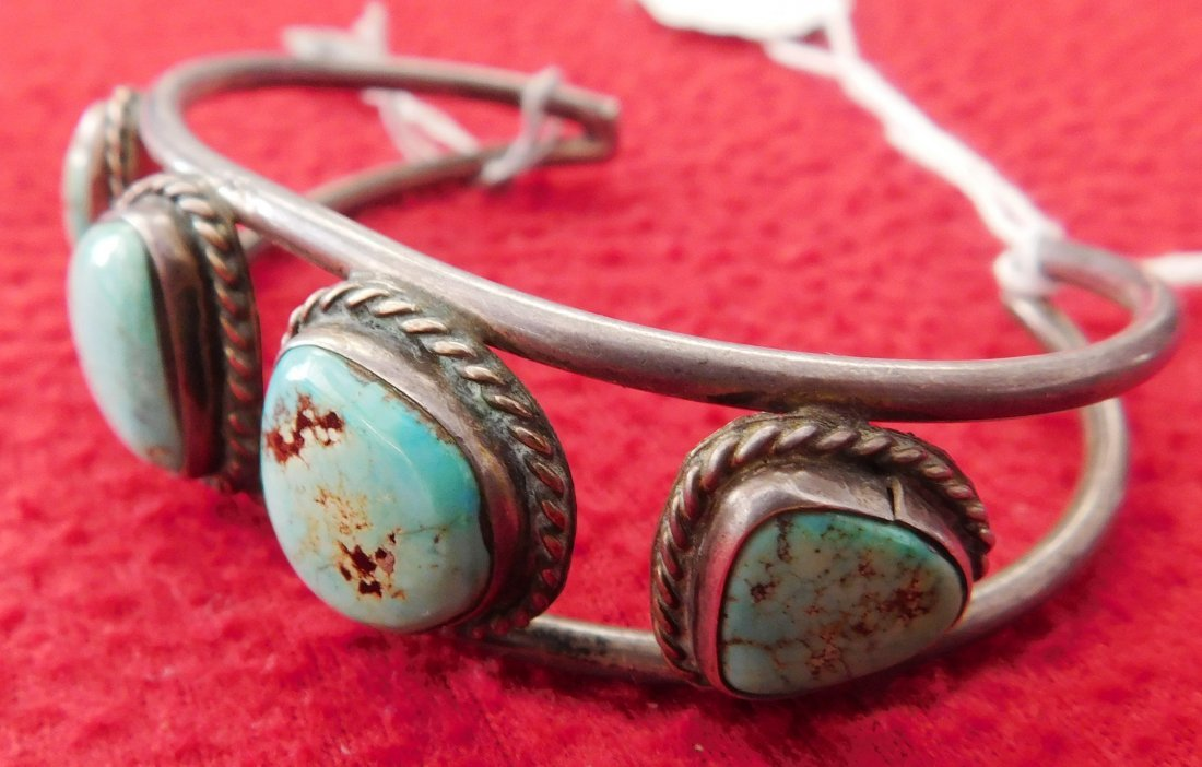 Sterling Silver & Turquoise Cuff & Ring - 2