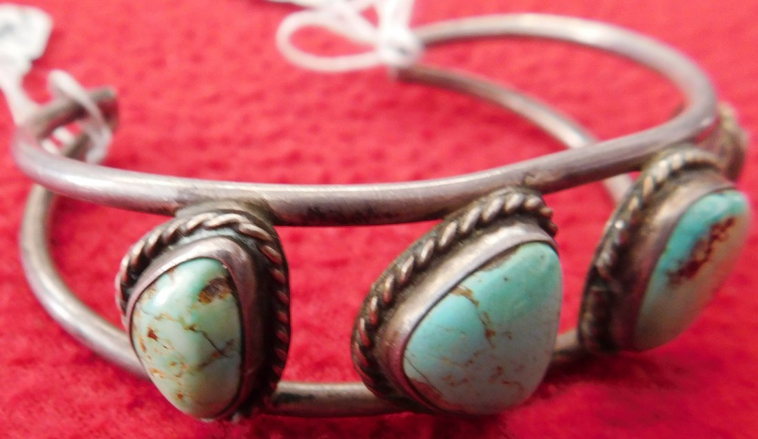 Sterling Silver & Turquoise Cuff & Ring - 3