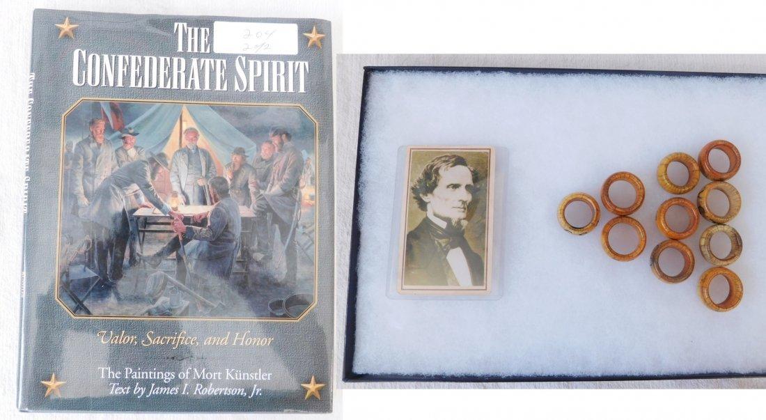 Collection of Bone Civil War Rings