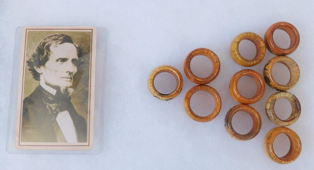 Collection of Bone Civil War Rings - 9