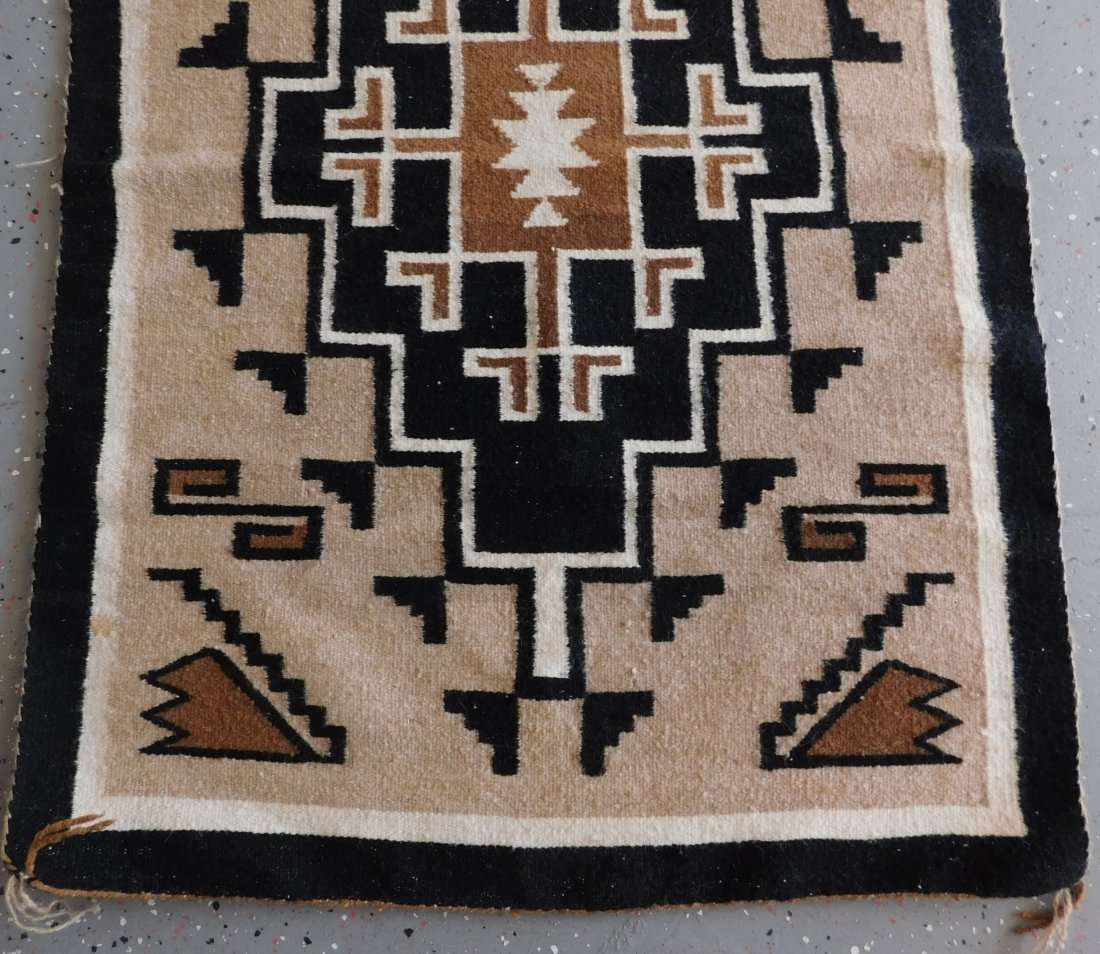 Two Grey Hill Navajo Weaving - 8