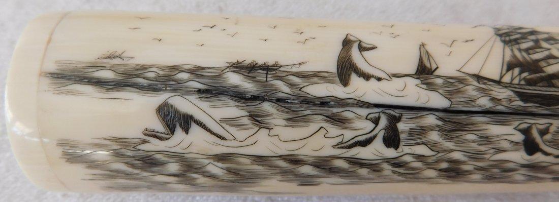 Eskimo Walrus Bone Carving - 3