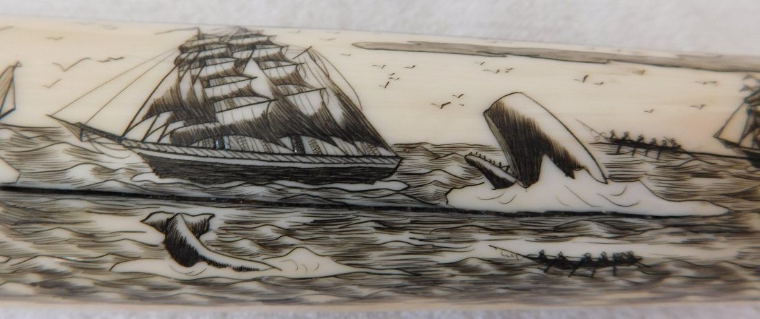 Eskimo Walrus Bone Carving - 4