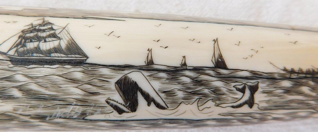 Eskimo Walrus Bone Carving - 5