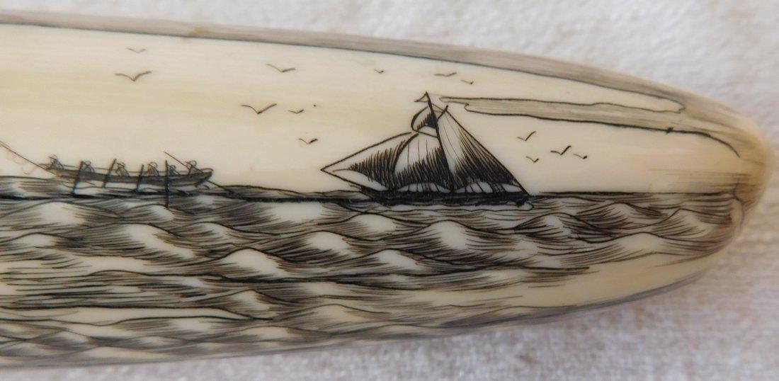 Eskimo Walrus Bone Carving - 6