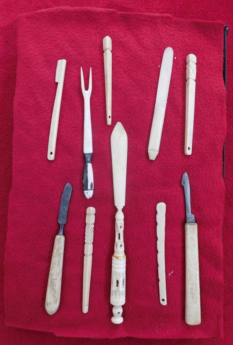 10 Eskimo Tools & Carvings