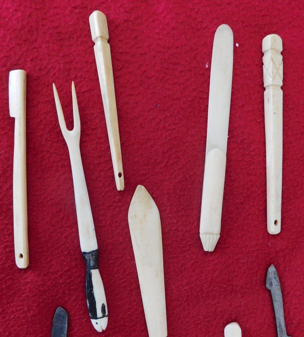 10 Eskimo Tools & Carvings - 2