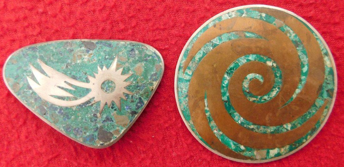 2 Mexican Modernist Pins