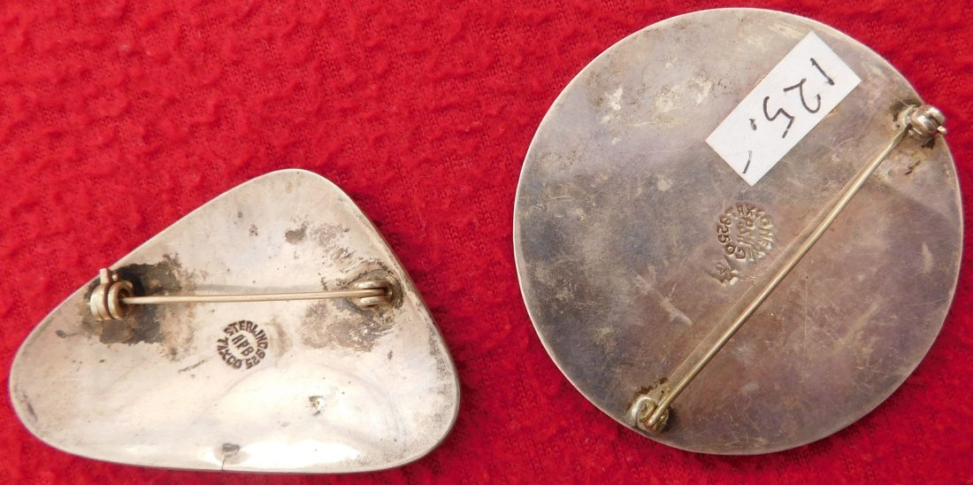 2 Mexican Modernist Pins - 2