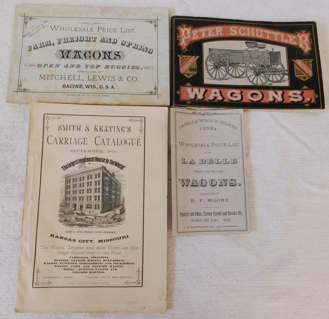 4 Antique Wagon Catalogs