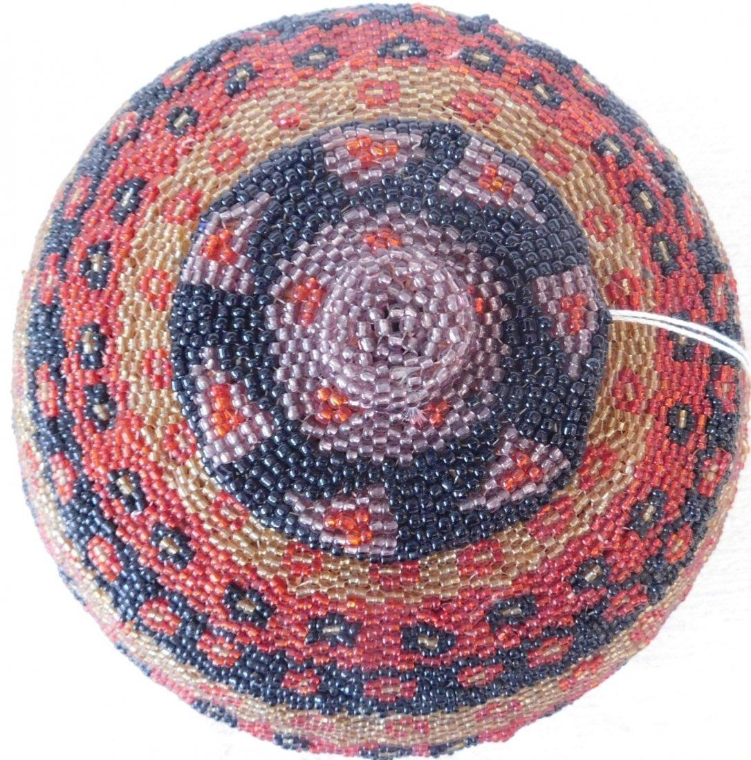 Fully Beaded Tribal Basket - 2