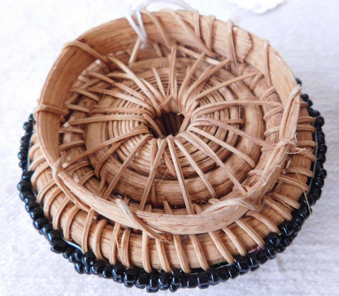 Fully Beaded Tribal Basket - 3