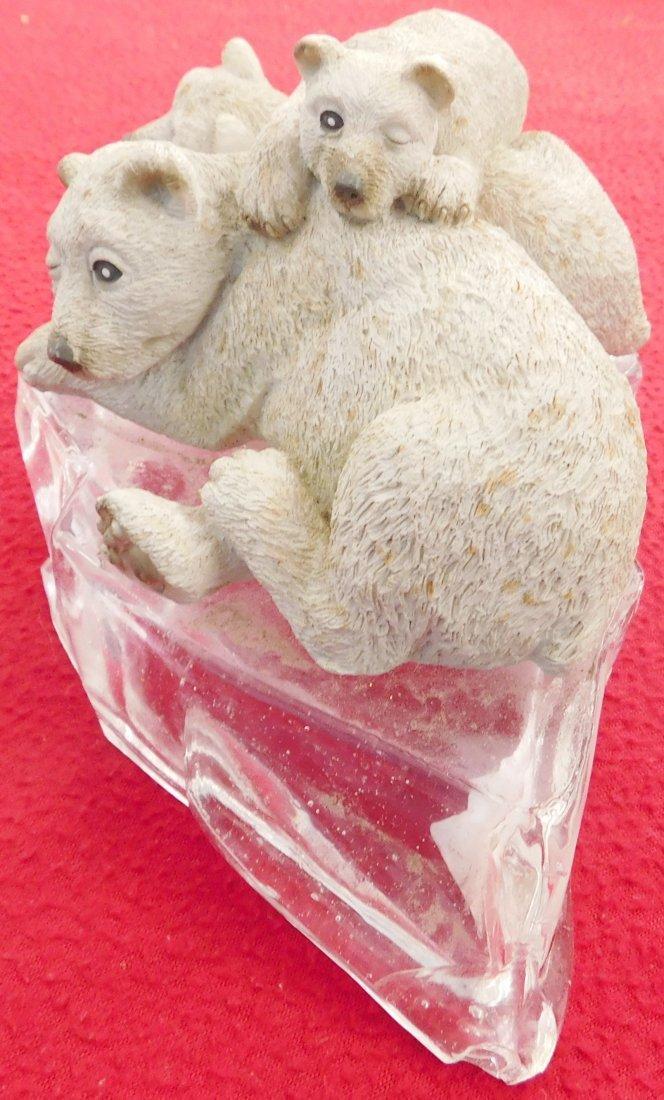 Sculpture of Polar Bear & Cubs - 2