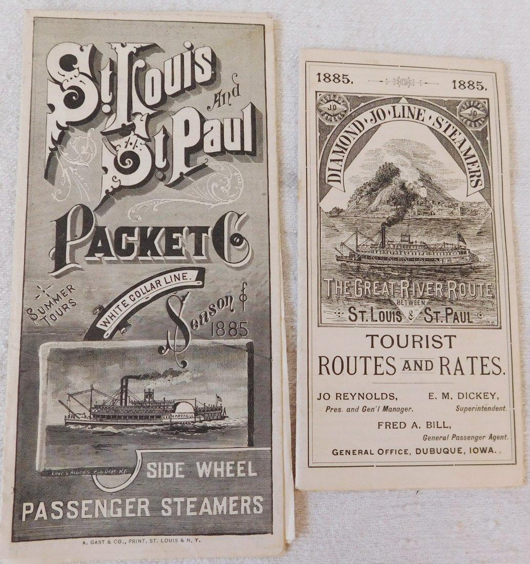2 Antique River Boat Schedules