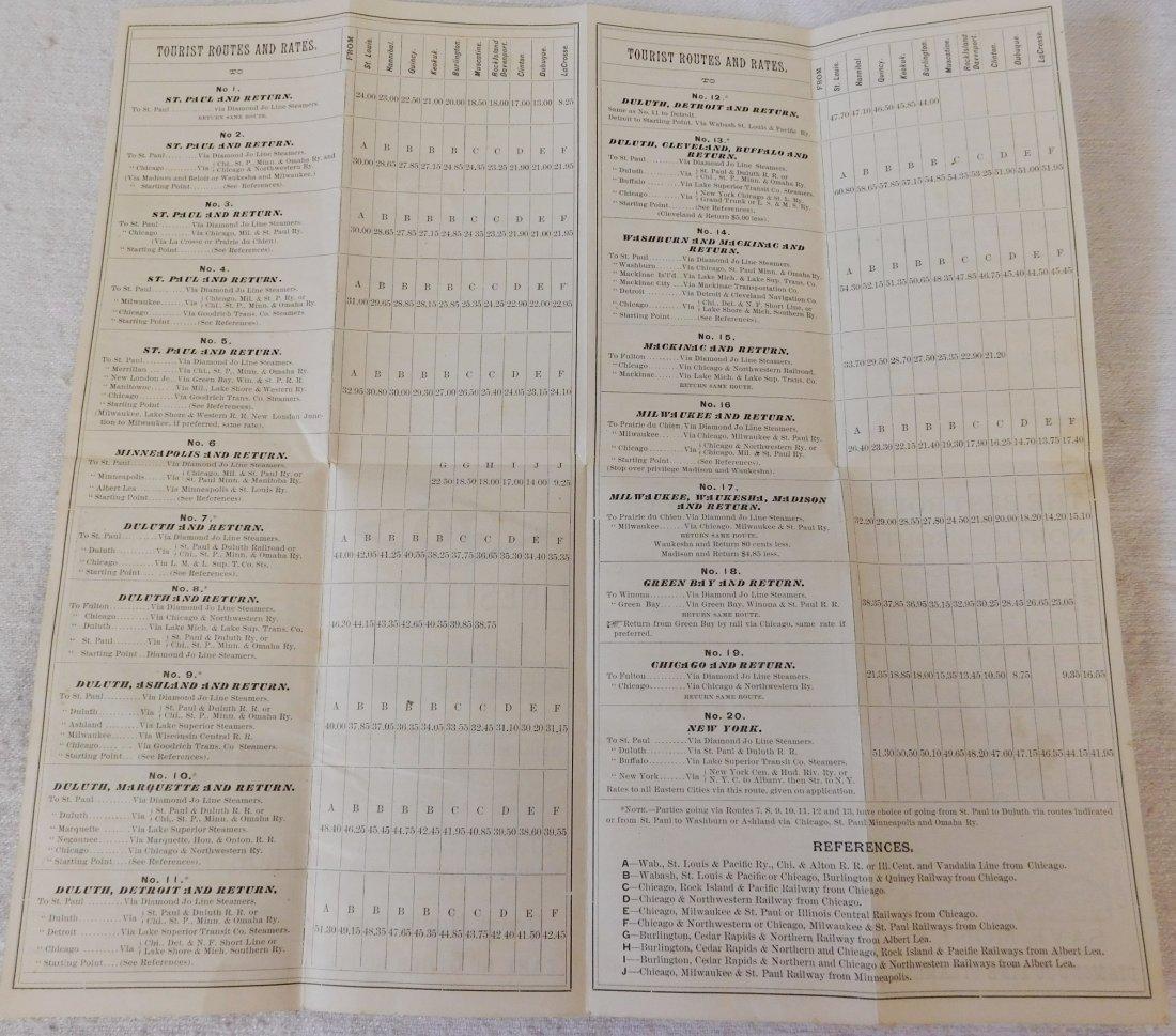 2 Antique River Boat Schedules - 2