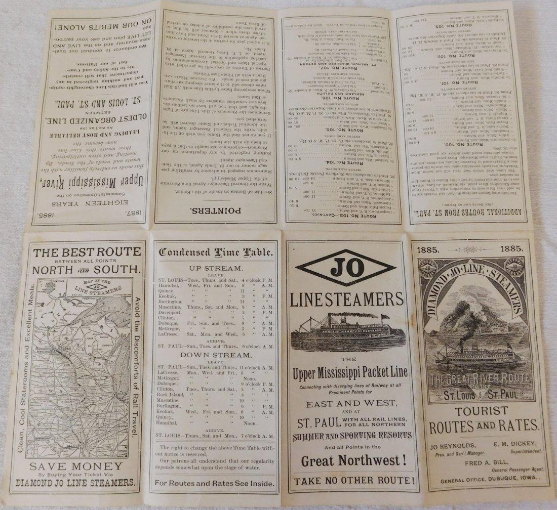 2 Antique River Boat Schedules - 3