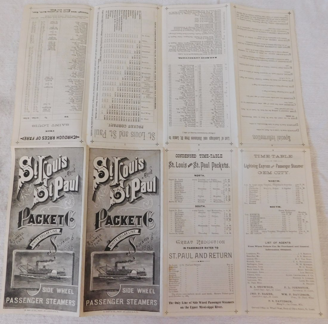 2 Antique River Boat Schedules - 4