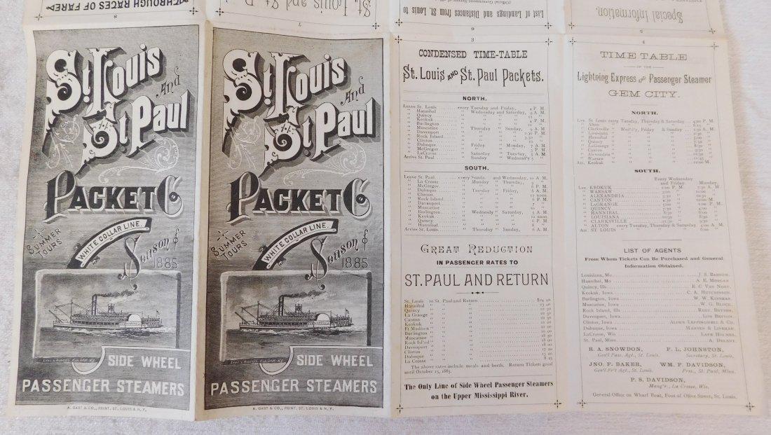 2 Antique River Boat Schedules - 5