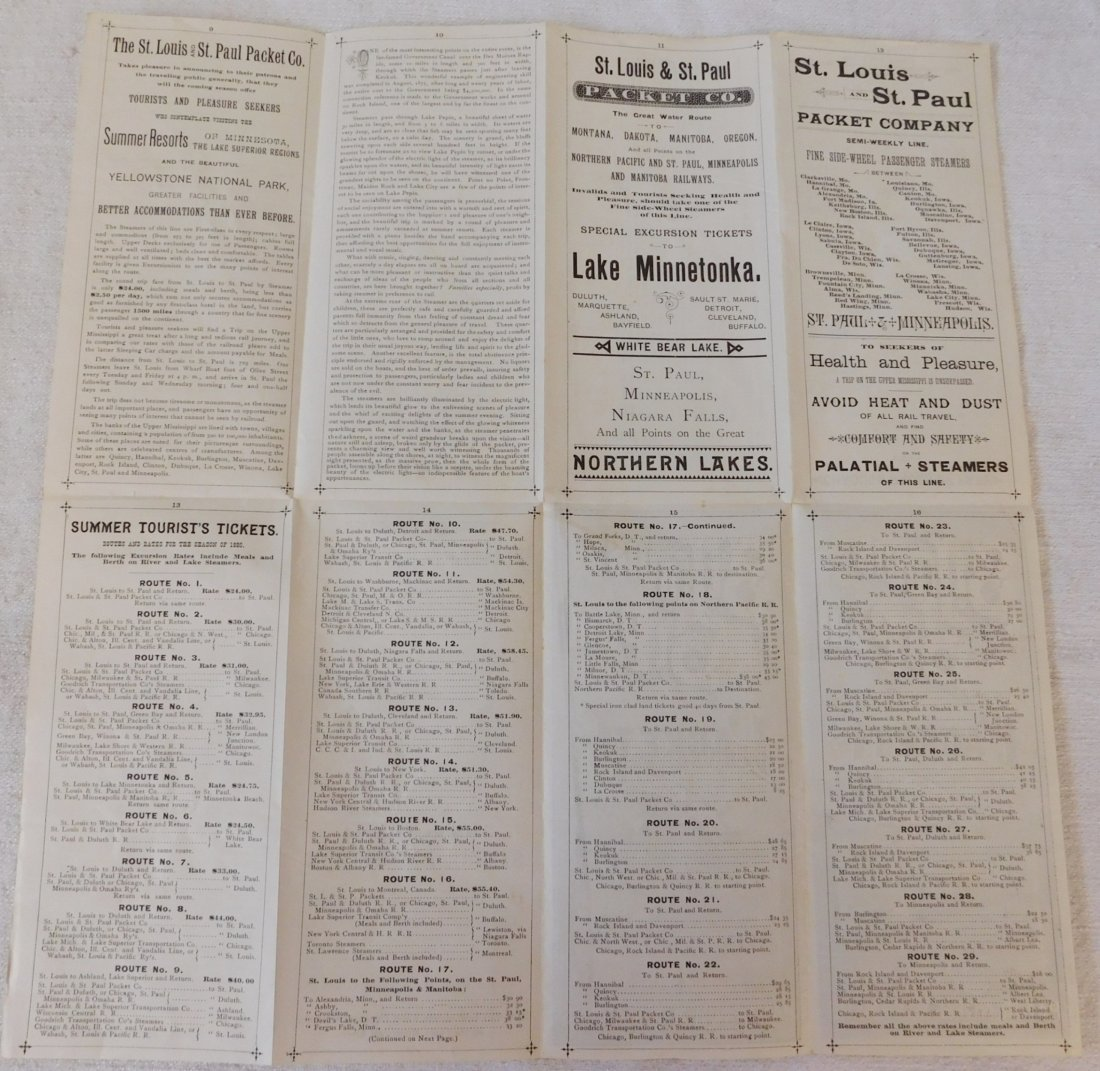 2 Antique River Boat Schedules - 6
