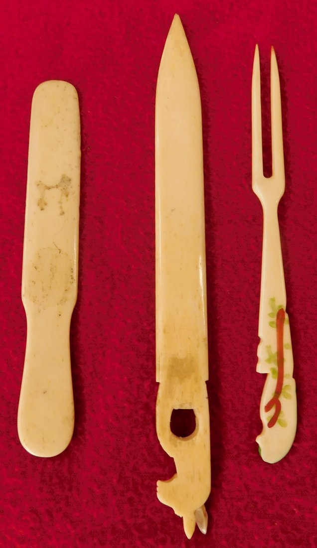 Ten Eskimo Bone Tools and Carvings - 5
