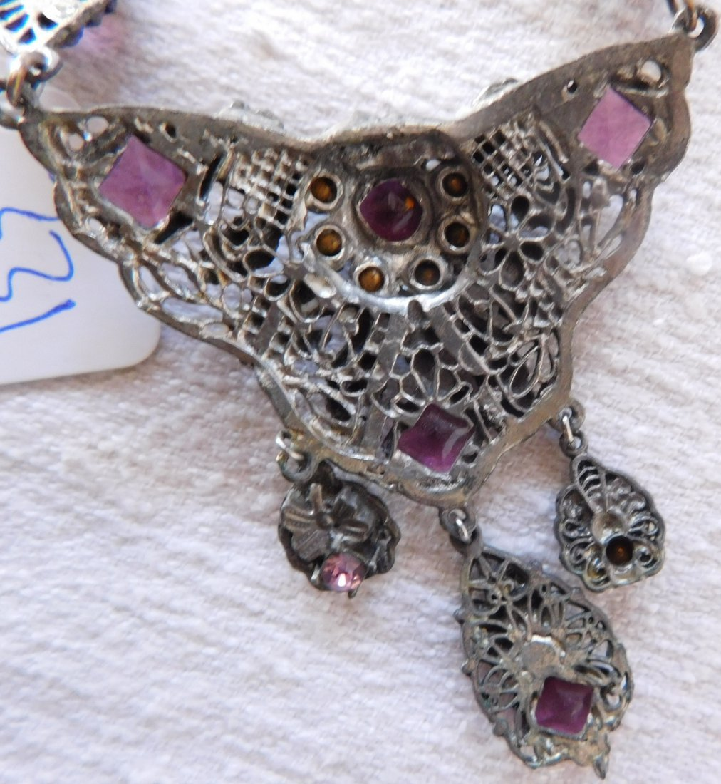 Indian Silver Necklace - 9