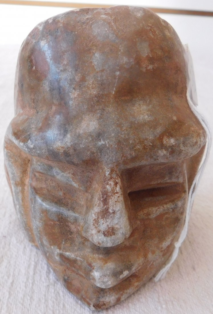 Pre-Columbian Human Head Effigy Sculpture