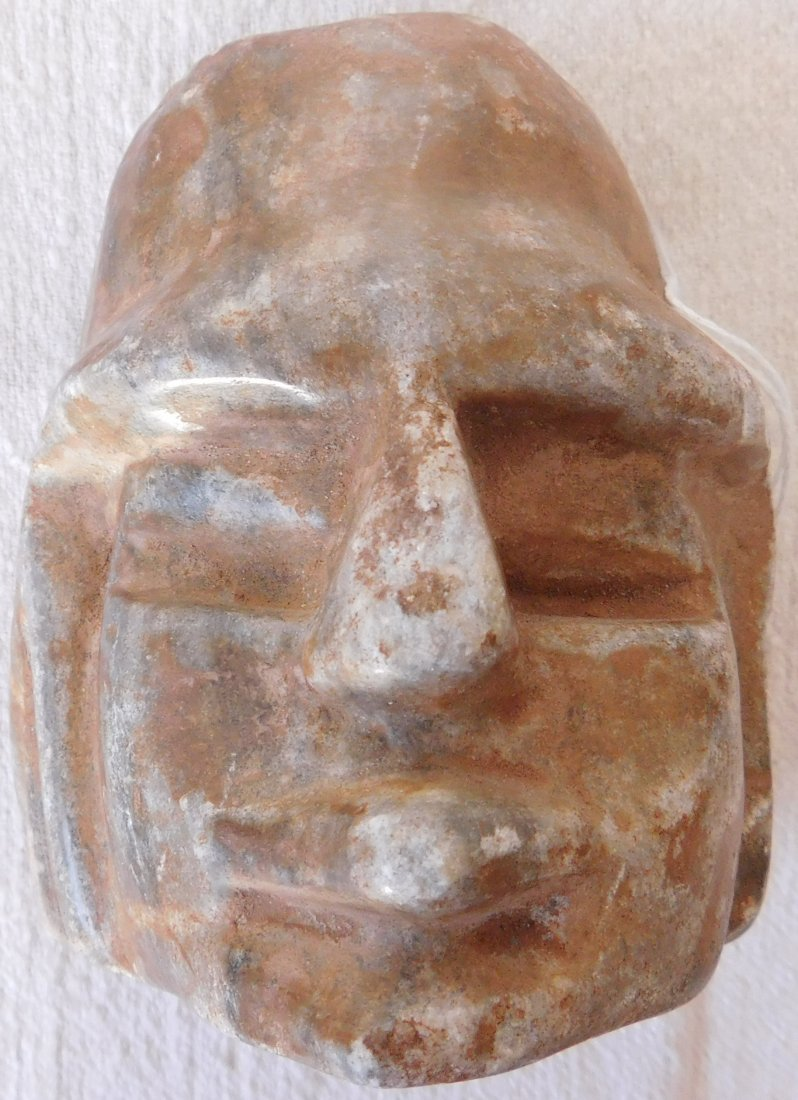 Pre-Columbian Human Head Effigy Sculpture - 7
