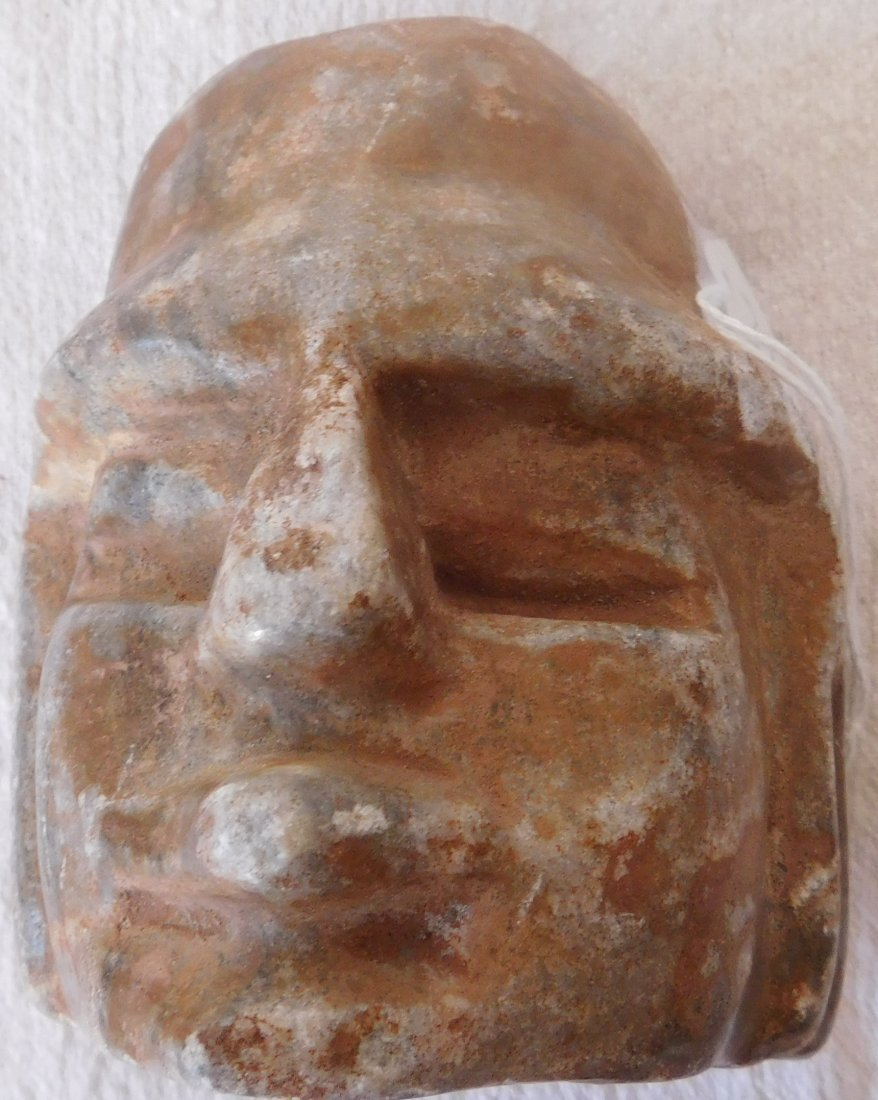Pre-Columbian Human Head Effigy Sculpture - 8