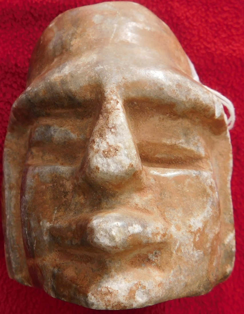 Pre-Columbian Human Head Effigy Sculpture - 9