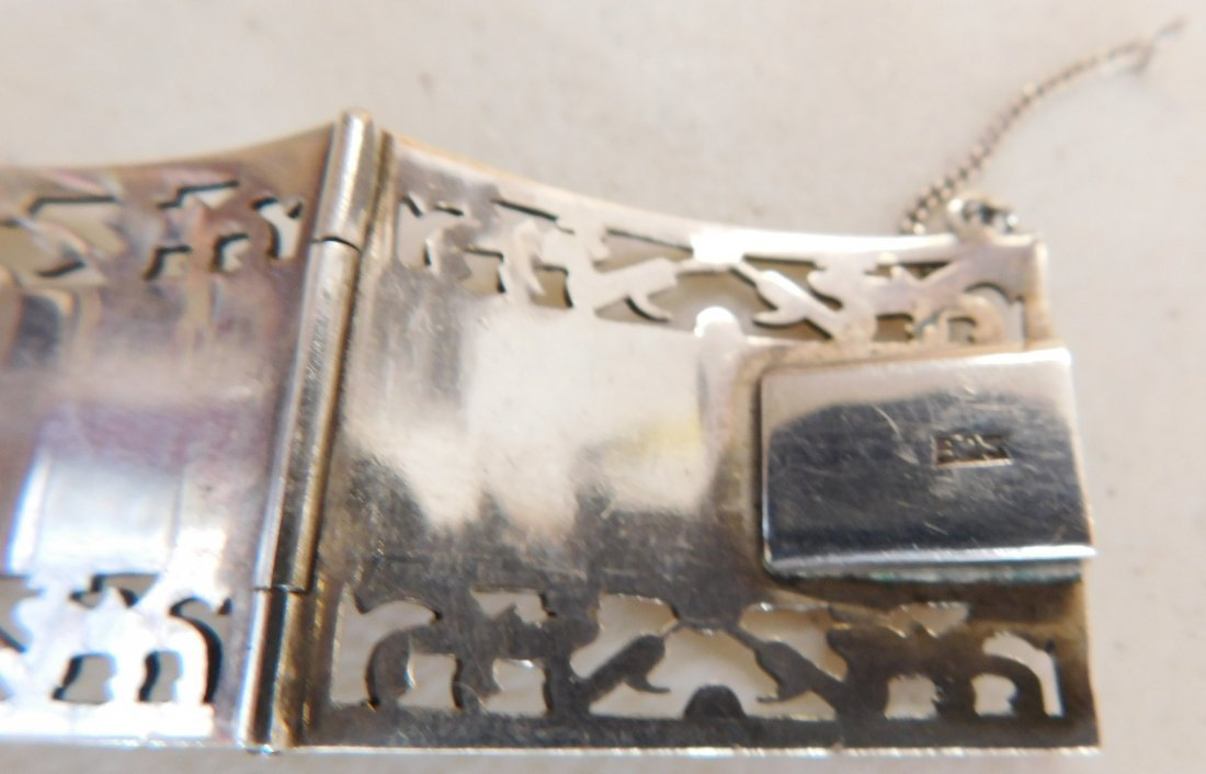Mexican Sterling w/Gold Wash Bracelet - 7