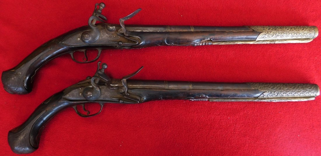 Matched Pair of Dueling Pistols