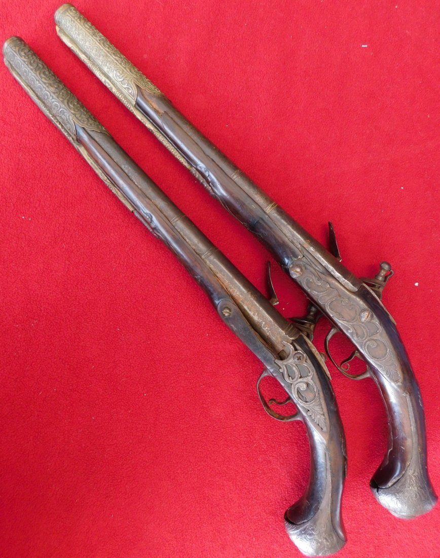 Matched Pair of Dueling Pistols - 7